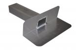 Aluminium kiezelbak 6x8 cm uitloop 33 cm 90º