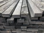 Douglas regel/ventilatielat geschaafd zwart 22x45x4000mm
