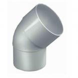 PVC bocht wit 100 45 graden 1 x lijm