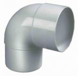 PVC bocht wit 100 90 graden 1 x lijm