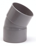 PVC lijmbocht 125mm 30gr m/m