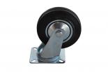 Zwenkwiel 125 mm rubber 100 kg