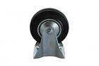 Bokwiel 125 mm rubber 100 kg