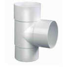 PVC T-stuk wit 100 90 graden 1 x lijm